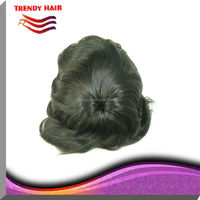 High quality indian remy human hair toupee/wig for men