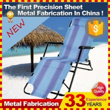 Folding Recliner Lounge Chair Sun Beach Chair Camping Fishing Chair