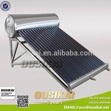 Mejor precio de acero inoxidable unpressure calentador solar de agua para ducha