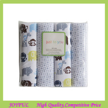 ORGANIC cotton Muslin Swaddle Blanket (4 pack)
