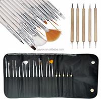 20pcs Nail Art Brush,15pcs plastic and 5 pcs wood Professional Nail Art Design Brushes,2015 Hot&Cheap Price Nail Art Brush