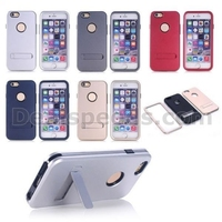 3 in 1 Detachable TPU + PC Hard Hybrid Kickstand Case for iPhone 6 6S with Silver