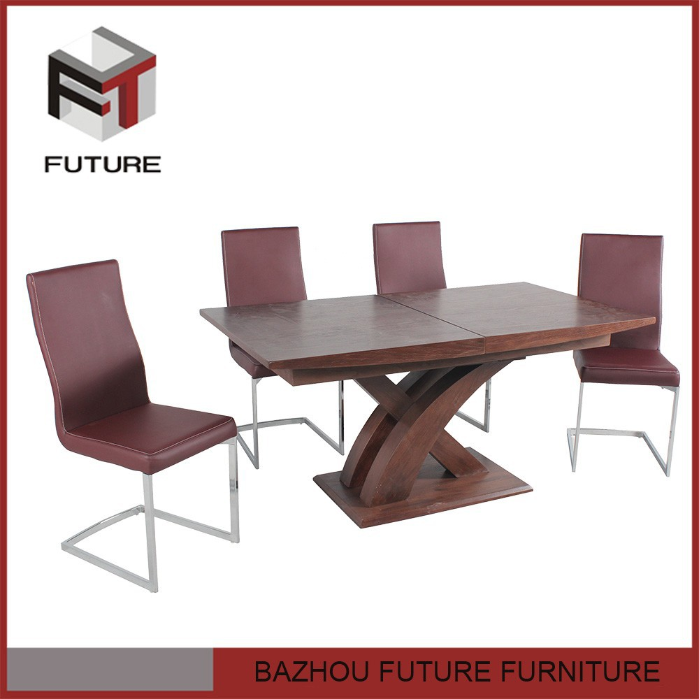 Wood Dining Table Home Cross Expandable Furniture For