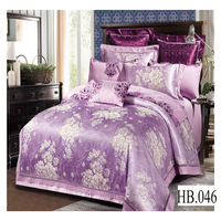 100% cotton bed sheets king size luxury wedding embroidery 3d cover bed set silk jacquard european 3d comforter bedding set