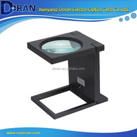 MG14116-A Folded Plastic Linen Tester Magnifier with 3 LED Lights