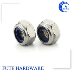 Stainless Steel Hex Nylon Nut/Stainless Steel 316 Nylon Nut
