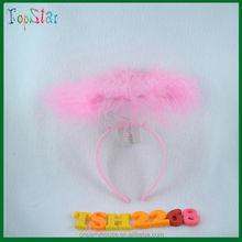 2015 mejor venta de color rosa ángel halo bebé diadema