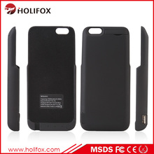 Lithium Polymer Accepted OEM Or ODM Battery Case For iPhone 6 With USB Port