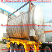 Dongte liquid Stainless Steel Insulated Tank Container heating pipe ASME approved manufacturer for sale:86-15271357675
