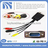 factory wholesale VGA 15 pin Male to 3 RCA Female Cable 1m