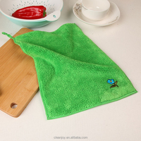 Without Leaving Marks Microfibre Kitchen Care Cleaning Colorful Embroidery Towel