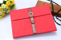 Hot! New! retro style pu leather cover with belt for ipad air 2 leather case wholesale alibaba
