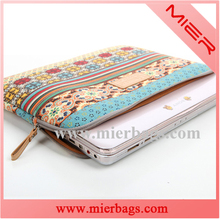 15 inch fashion printing canvas computer bag notebook pack laptop sleeve for lady