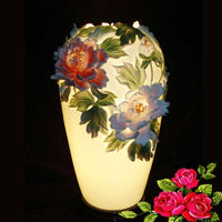 Hand painted sculptured home decorative porcelain art deco lamp