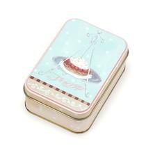 high quality rectangular small mint tin box hinged cake tin box birthday party food tin box HQTB00066
