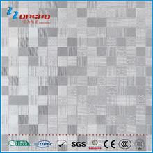 600*600 silver concave- convex metal look rustic tile