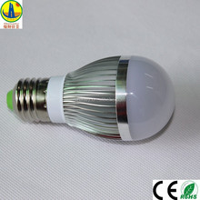 New style E27 Aluminum Warm White LED Energy-saving Light Bulb with CE/RoHS Certificate and 3W Power E27 LED Bulb Manufacturer
