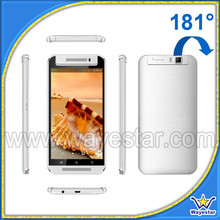 Cheap mobile phones mtk 6572 dualcore 5.5 inch 180 degree rotatable camera for ladies