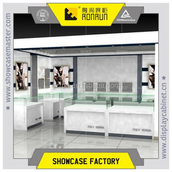 Jewelry glass top display case,display cabinet for jewelry shop decoration