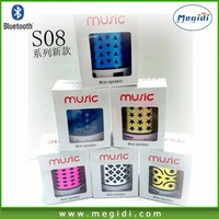 Brand/OEM J Micro Ultra Portable Rechargeable Wireless Bluetooth Speaker MS08 with 3.5mm Jack - Red,Black,White,Blue