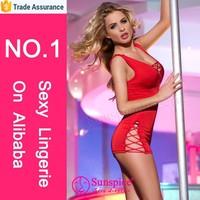 2015 Sunspice hot sale fasionable style fat women sexy tight lace dress female sexy night dress