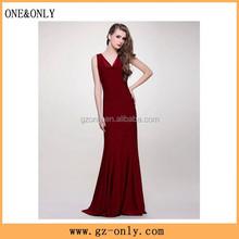 Elegant Drapped Neck Wholesale Plus Size Evening Dress for Fat Women 2015