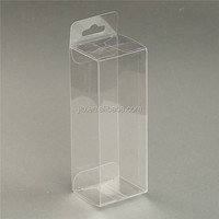 Custom PVC PET APET PETG Plastic Transparent box with hanging tap