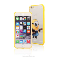 Hot Sell New Design Cell Phone Accessories Cute Cartoon TPU+ Acrylic mobile phone case for iPhone 5