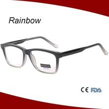 2015 new designer style eyewear fashionable gradually color reading glasses eyeglasses for old man