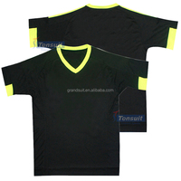 Wholesale jersey football from China black with yellow collar grade original quality