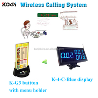 number waiting system for restaurant alarm system wireless waiter call with factory price and new modern