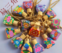 Wholesale Hanging Car Pendants,Car Clay Perfume Bottle With Wooden Cap