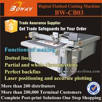 NEW Non used Digital cutting laser position CNC sample corrugated carton box making machine