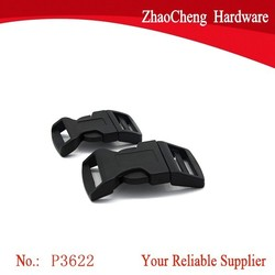 20mm Black Plastic Curved Side Release Buckles