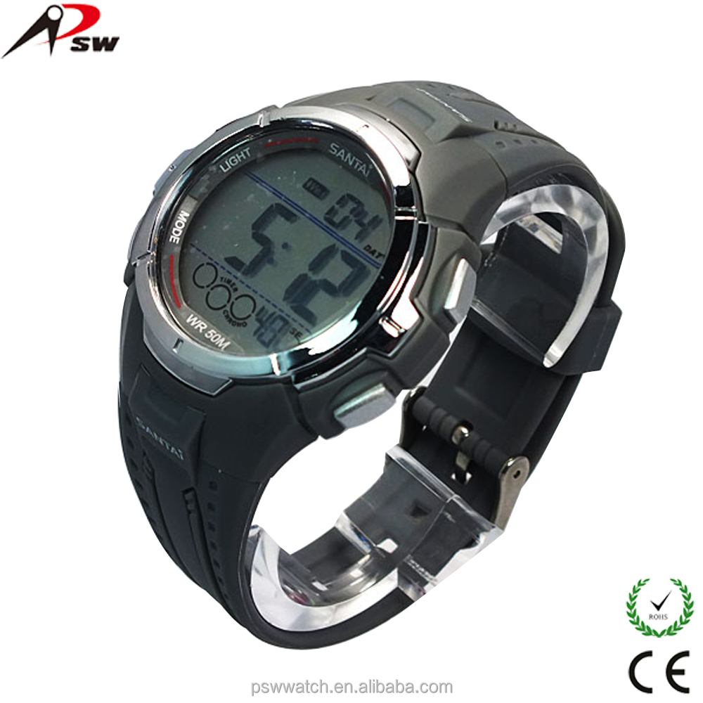 digital display sport cheap silicone with