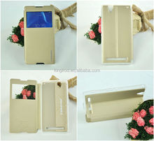 Fast delivery flip two mobile phones leather case