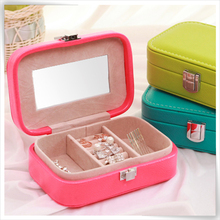 Lowest price customized pu leathersupplies pendant box of jewellery pouch