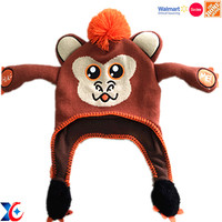 Walmart factory handmade crochet cartoon children hat with animal design knit