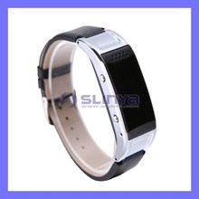 PU Free Sample Leather WristBand Mobile Phone Watch For iPhone Smart Watch Phone