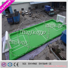 Exciting PVC Inflatable Soccer Pitch with air blowers