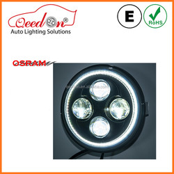 Qeedon ECE DOT 7 inch modified car light with angel eyes for off road