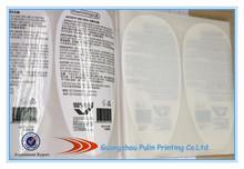 a prueba de agua de plástico botella la etiqueta etiqueta de ducha de diseño personalizado de la impresora