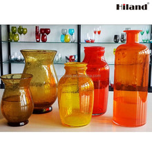 Wholesale manufacturing colored glass vase for home decoration