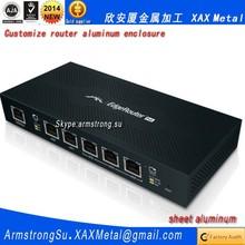 XAX599Alu OEM ODM customized laser cut bend weld sheet aluminum alloy sand spraying equipment enclosure Router box