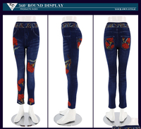 Custom women leggings sex hot jeans leggings pictures of jeans pants