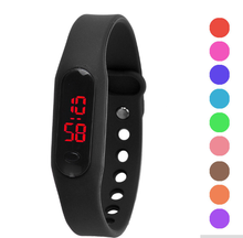 OEM promotional gifts new fashion watch gift stainless steel back silicone led tpu digital watch