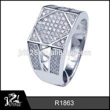 de diseño clásico antiguo anillo de los hombres