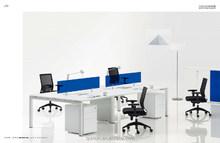 open acrylic office workstation desk steel furniture acrylic 4 person workstation two sided office desk china manufacturer