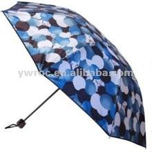 2012 fashion satin black rubber folding umbrella