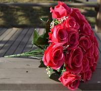 Home&wedding Decoration,18 Heads Red Light Up Artificial Ball Daisy Flowers,Artificial Flower Wedding Bouquet